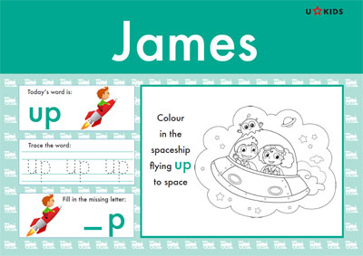 Nursery Word Pad for Boys