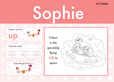 Nursery Word Pad for Girls