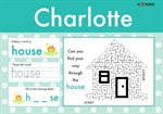 Reception / Year 1 Word Pad for Girls, a Personalised Classic Novel