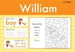 Reception / Year 1 Word Pad for Boys, a Personalised Classic Novel